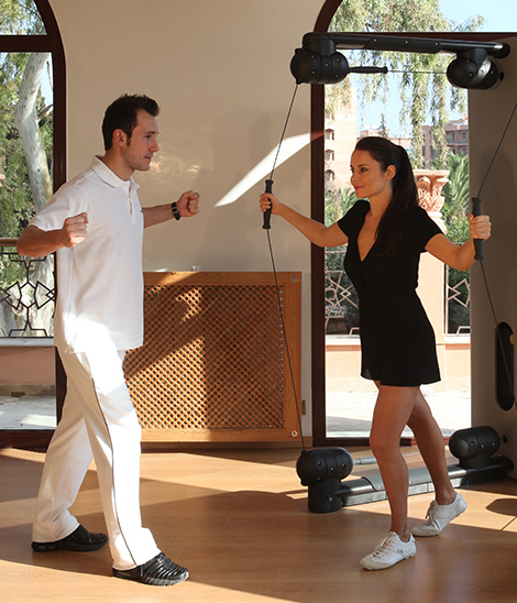 Cours particulier dans la salle de sport du Es Saadi Marrakech