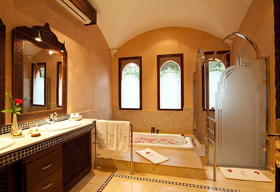 villa andalouse salle de bain marrakech