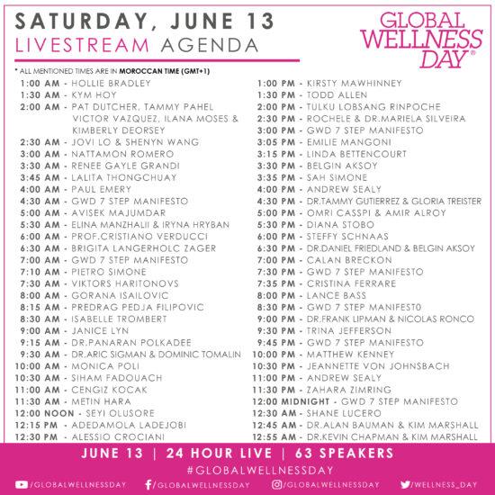 Global Wellness Day Agenda