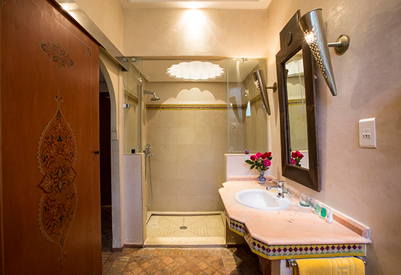 bungalow salle de bain marrakech