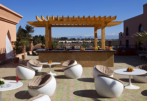 Terrasse solarium au spa EsSaadi Marrakech