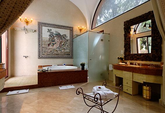 villa romaine salle de bain marrakech