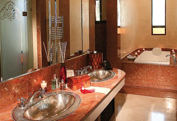 villa sultane salle de bain marrakech